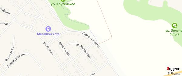 Благодатная улица на карте Майского поселка с номерами домов