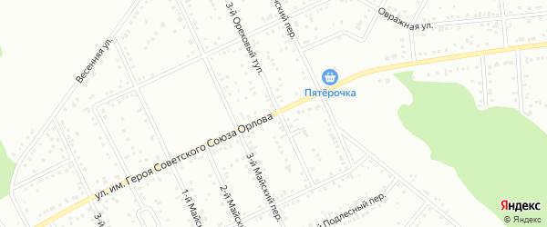 Улица им Героя Советского Союза Орлова А.И. на карте Белгорода с номерами домов