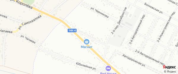 Декабристов 3-й переулок на карте Белгорода с номерами домов