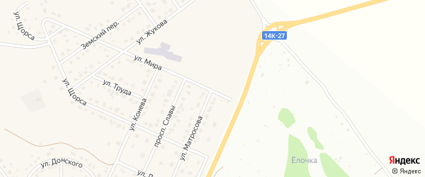 Улица Матросова на карте Майского поселка с номерами домов