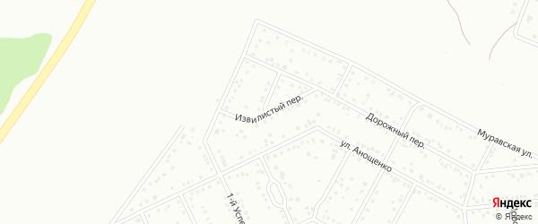 Извилистый переулок на карте Белгорода с номерами домов