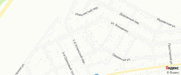 Западный переулок на карте Белгорода с номерами домов