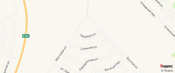 Ледовая улица на карте Стрелецкого села с номерами домов