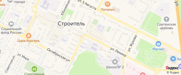 Улица Ленина на карте Строителя с номерами домов