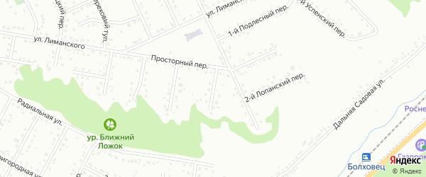 Шагаровский 1-й переулок на карте Белгорода с номерами домов