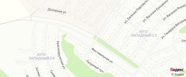 Фестивальная улица на карте Белгорода с номерами домов