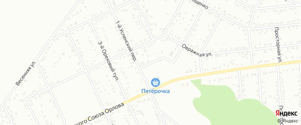 Пригородный переулок на карте Белгорода с номерами домов