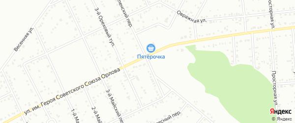 Платоновский 1-й переулок на карте Белгорода с номерами домов