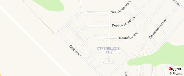 Гвардейская улица на карте Стрелецкого села с номерами домов