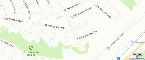 Просторный 2-й переулок на карте Белгорода с номерами домов