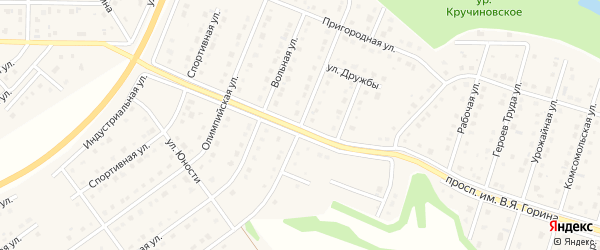 Лирическая улица на карте Майского поселка с номерами домов