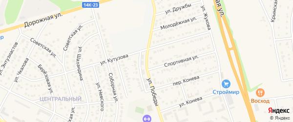 Улица Победы на карте Строителя с номерами домов