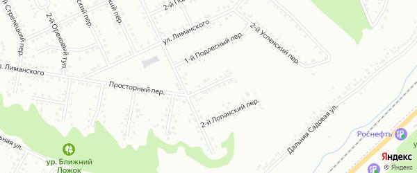 Лопанский 1-й переулок на карте Белгорода с номерами домов