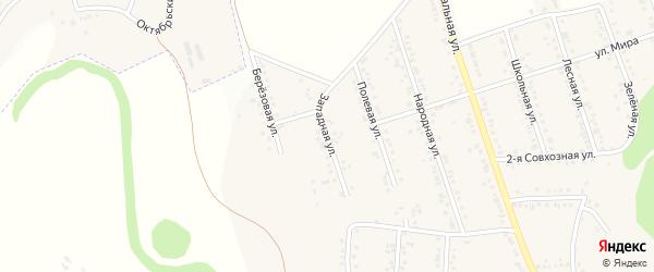 Западная улица на карте Репного села с номерами домов