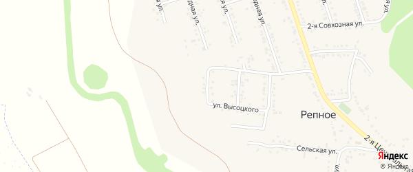 Приовражная улица на карте Репного села с номерами домов