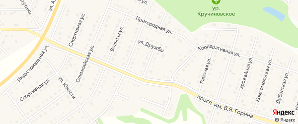 Поэтическая улица на карте Майского поселка с номерами домов