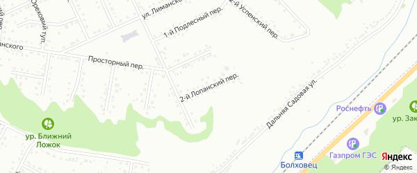 Лопанский 2-й переулок на карте Белгорода с номерами домов