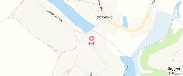 Заречная улица на карте села Устинки с номерами домов