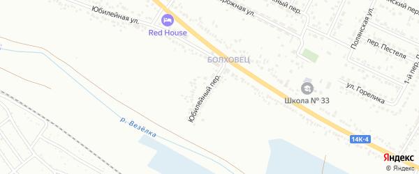 Юбилейный переулок на карте Белгорода с номерами домов