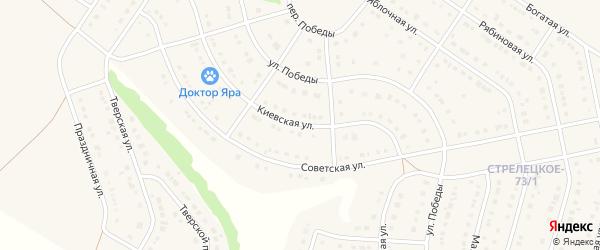 Киевская улица на карте Стрелецкого села с номерами домов