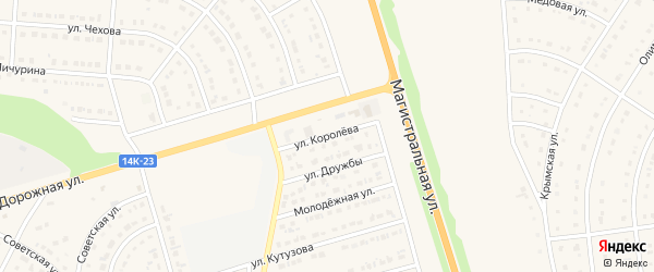 Улица Королева на карте Строителя с номерами домов