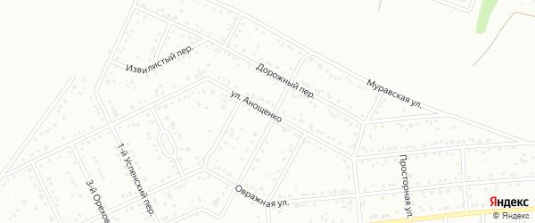 Улица им Анощенко Н.Д. на карте Белгорода с номерами домов