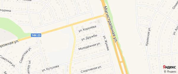Улица Дружбы на карте Строителя с номерами домов