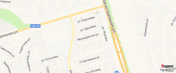 Молодежная улица на карте Строителя с номерами домов