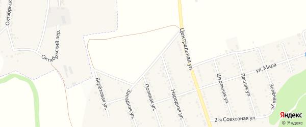 Полевая улица на карте Репного села с номерами домов