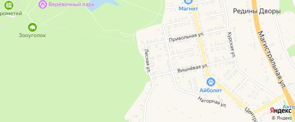Лесная улица на карте Строителя с номерами домов