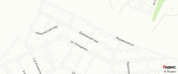 Дорожный переулок на карте Белгорода с номерами домов