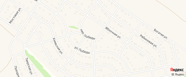 Переулок Победы на карте Стрелецкого села с номерами домов