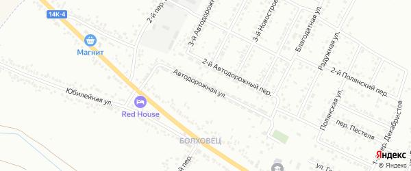 Автодорожная улица на карте Белгорода с номерами домов