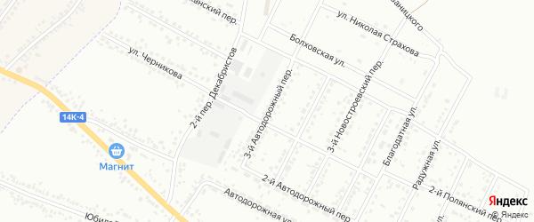 Автодорожный 3-й переулок на карте Белгорода с номерами домов