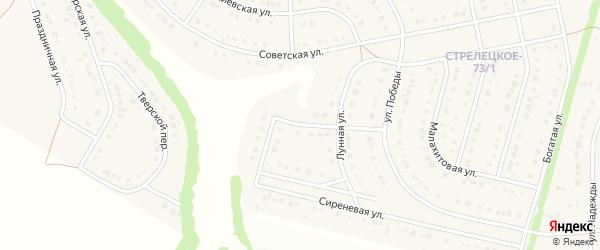 Лунный переулок на карте Стрелецкого села с номерами домов