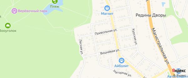 Парковая улица на карте Строителя с номерами домов