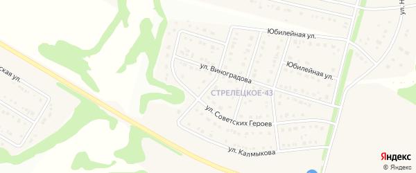 Административная улица на карте Стрелецкого села с номерами домов