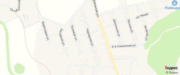 Народная улица на карте Репного села с номерами домов