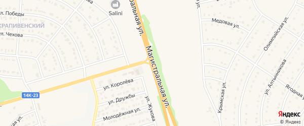 Магистральная улица на карте хутора Крапивенские Дворы с номерами домов