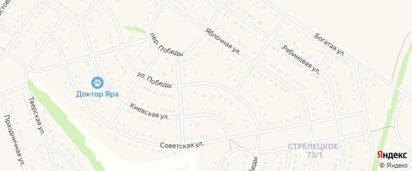Улица Победы на карте Стрелецкого села с номерами домов