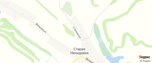 Степная улица на карте села Старой Нелидовки с номерами домов