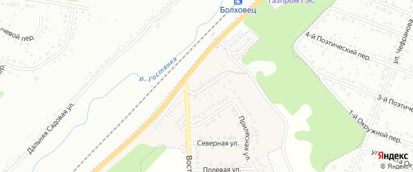 Шоссейная улица на карте Майского поселка с номерами домов