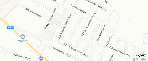 Новостроевский 2-й переулок на карте Белгорода с номерами домов