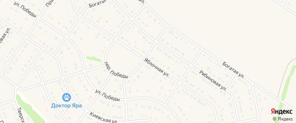 Яблочная улица на карте Стрелецкого села с номерами домов