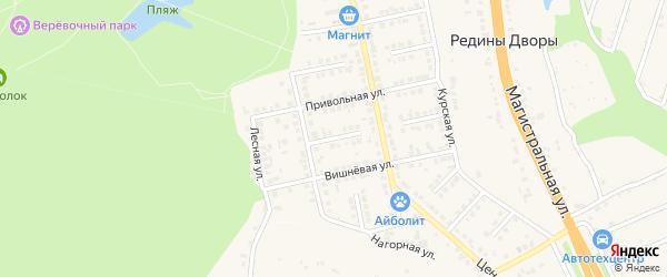 Пушкинский переулок на карте Строителя с номерами домов
