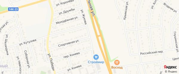 Улица Жукова на карте Строителя с номерами домов