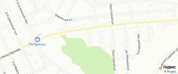 Малый 1-й переулок на карте Белгорода с номерами домов