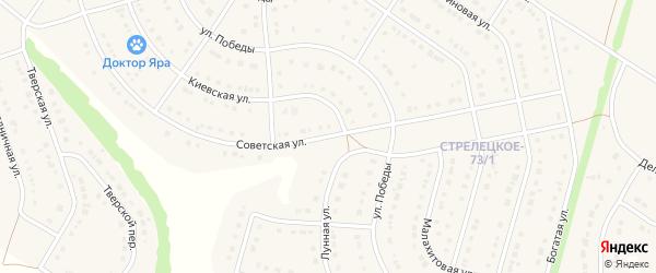Советская улица на карте Стрелецкого села с номерами домов