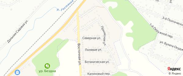 Северная улица на карте Майского поселка с номерами домов