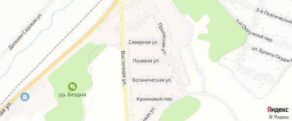 Полевая улица на карте Майского поселка с номерами домов